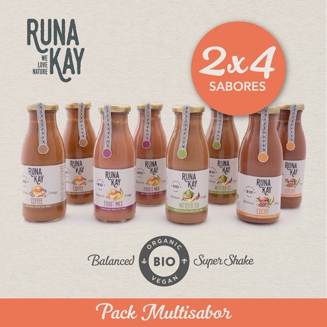 Pack de 8 batidos RUNAKAY Multisabor