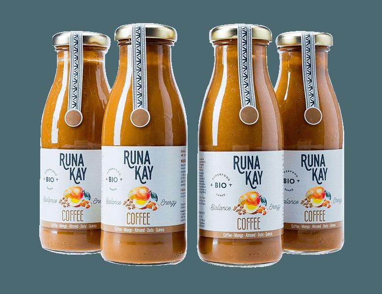 batidos veganos y ecológicos de café RUNAKAY