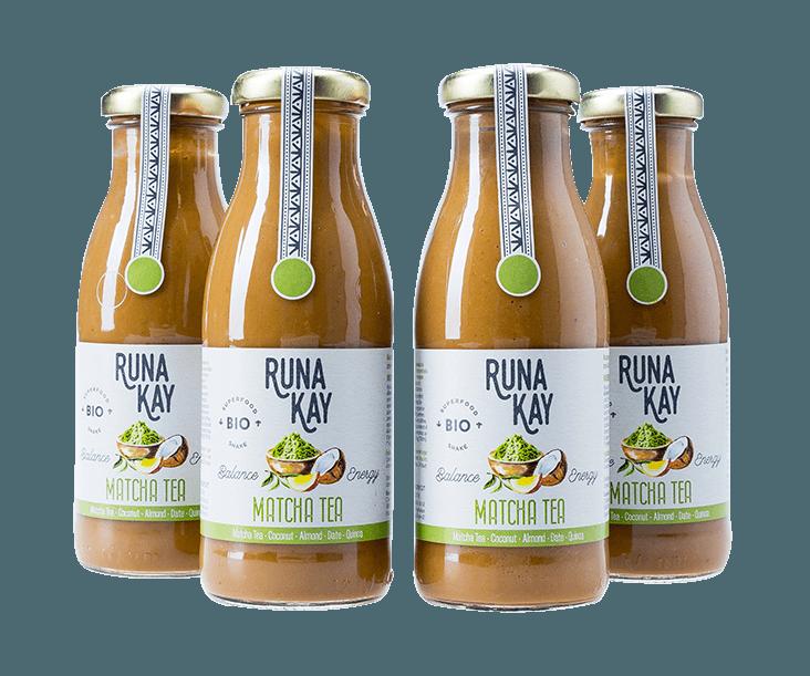 batidos veganos y ecológicos de matcha tea RUNAKAY