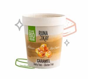 helado vegano y bio de caramelo sin gluten y sin lácteos