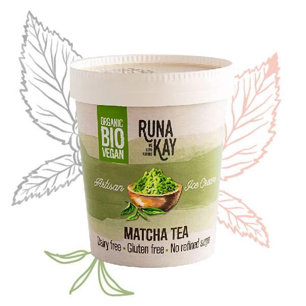 helado vegano matcha tea sin lácteos ni gluten