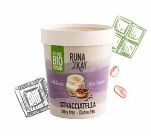 helado vegano de horchata de chufas y chocolate, sin lácteos ni gluten